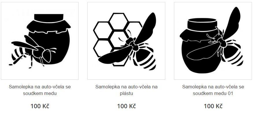 Samolepky na auto- včelaření, prodej medu
