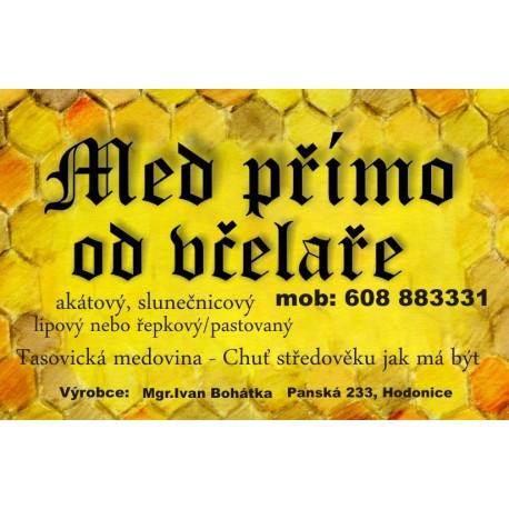 Prodej medu- Ivan Bohátka- Hodonice- okres Znojmo