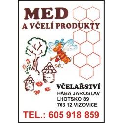 Prodej medu Jaroslav Hába- Vizovice- okres Zlín
